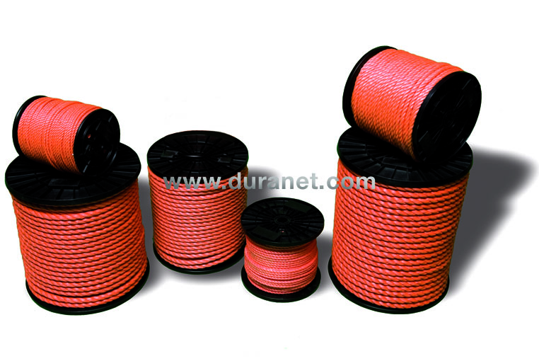 Twisted polypropylene ropes Netten
