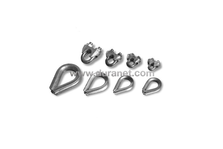 steel cable clamps - thimbles Netten