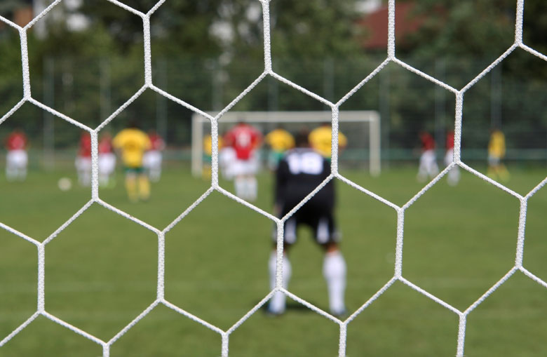 Hexagonal mesh knotless football goal nets Netten