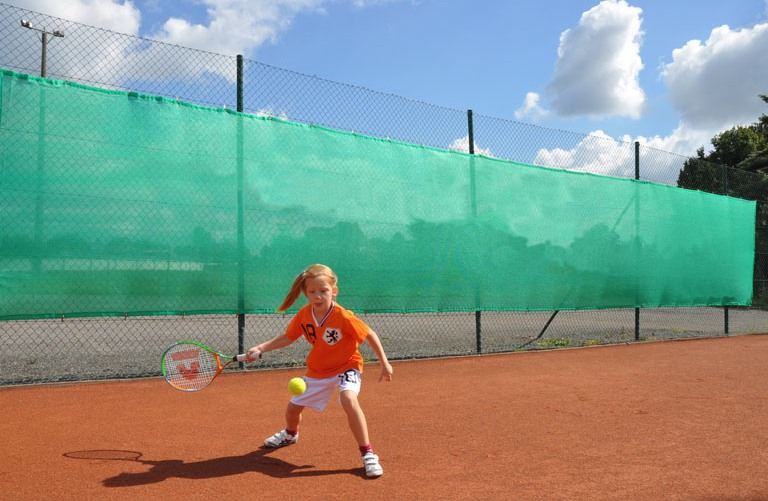 Unprinted tennis court windbreak nets Netten
